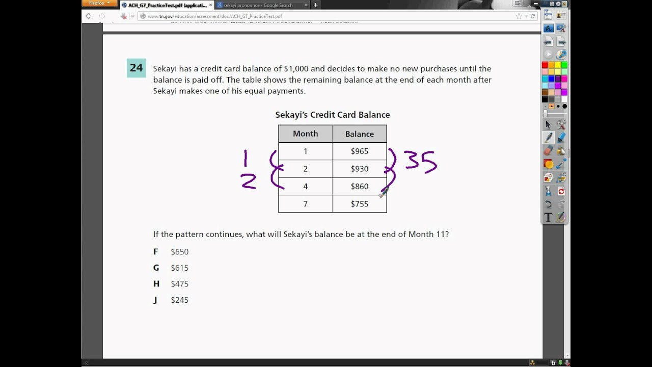 Question 24 - 7th Grade- TCAP Math Practice Test - YouTube