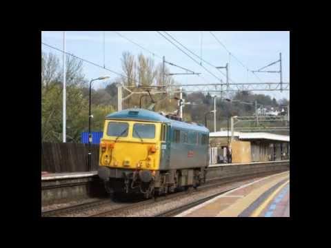 BR Blue Class 87002 on a L/E movement (0Z87(?)) at Berkhamsted - 1st April 2014