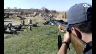 Disparando Tiro Al Blanco Con .22 LR Long Rifle Shooting