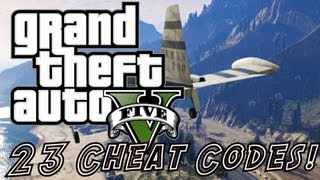 GTA 5 Cheats 23 Cheat Codes! Cars, Explosive Ammo, Super