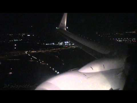 American Airlines 737-800 Landing at Dallas/Fort Worth International Airport [HD]