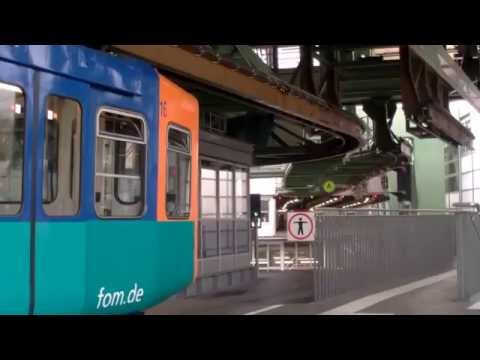 Turning & operation of overhead track points at Wohwinkle on Wuppertal Schwebebahn