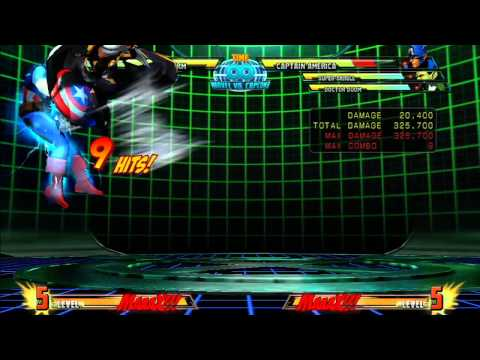 MvC3: Storm - Combo 01 - Forward Dash Loop!