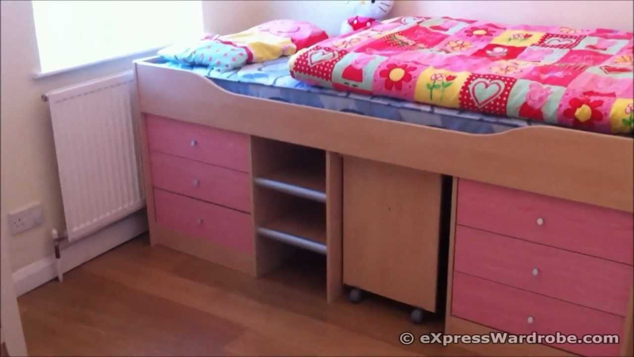 argos kids sleeper storage bed with study desk malibu. Black Bedroom Furniture Sets. Home Design Ideas