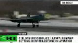 Russian Sukhoi T-50 Jet Challenges US Raptor Stealth Fighter
