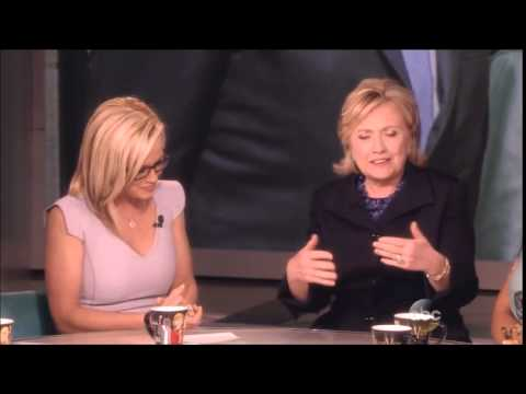 Hillary Clinton - Barbara Walters Final Show As Co Host - The View
