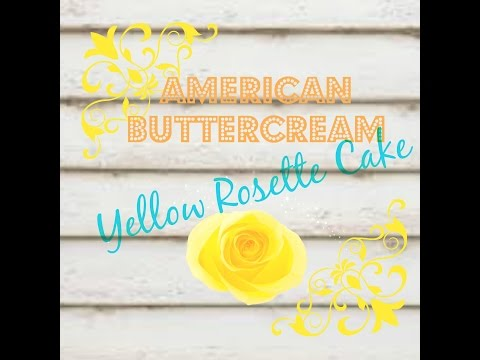 Yellow Rose Buttercream Cake
