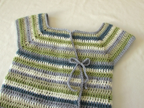 How to crochet a girl's crossover cardigan / sweater