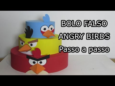 Bolo Falso ANGRY BIRDS Passo a passo