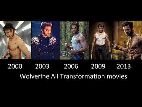 Wolverine Transformation in Movies- 2000- 2003- 2006- 2009- 2013 [Wolverine transformacion]
