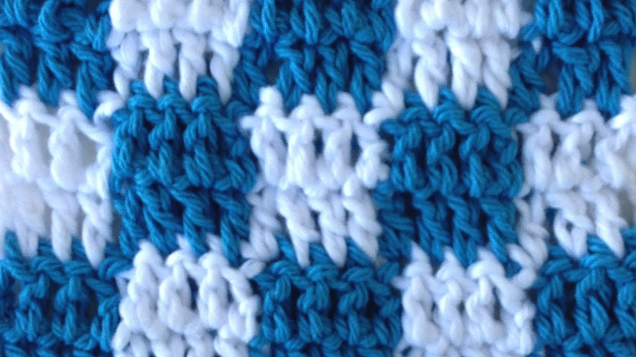 Crocheting How To Change Colors : CROCHET STITCHES Checks Changing Colors How to Pattern Maggie Weldon ...