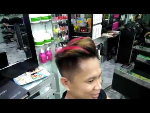 Salon tóc ngân tâm nhuộm móc lai màu đỏ mùa hè 2016