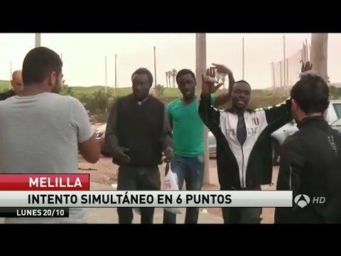 مئات المهاجرين الأفارقة يقتحمون مليلية عبر سياج عملاق