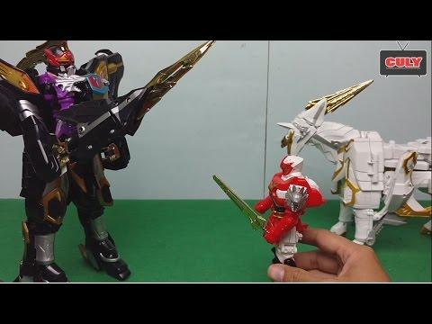 Siêu nhân phép thuật Saint Kaiser đánh Wolkaiser cứu trẻ em đồ chơi Mahou Sentai Magiranger