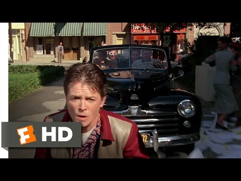 Back to the Future (7/10) Movie CLIP - Skateboard Chase (1985) HD