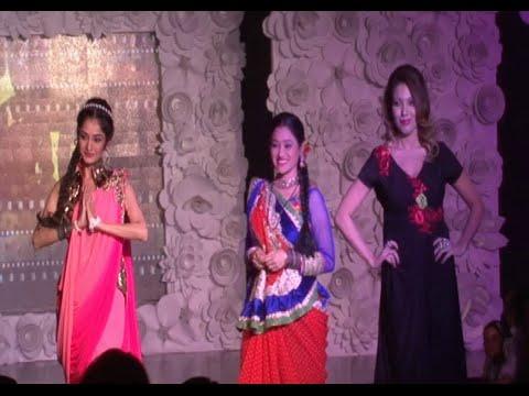Munmun Dutta, Disha Vakani and Neha Mehta ramp walk at BE WITH BETI Fashion Show 2015.