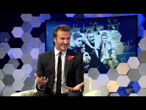 David Beckham live at the Facebook Digital Stadium