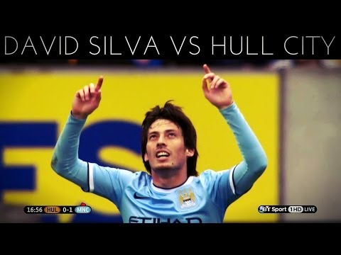 David Silva vs Hull City (A) 2013-2014 EPL HD
