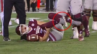 Nick Fitzgerald Injury (FULL VIDEO) | Ole Miss vs. Miss St. 2017