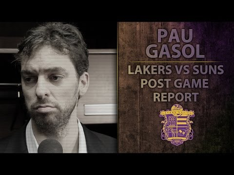 Lakers Vs. Suns: Pau Gasol Talks About Kobe's Improvement, Teams Response To Kobe