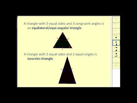 Angle Relationships and Types of Triangles