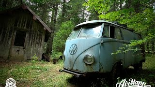Saving an old VW Bus by swapping its engine in the forest and driving it out.
