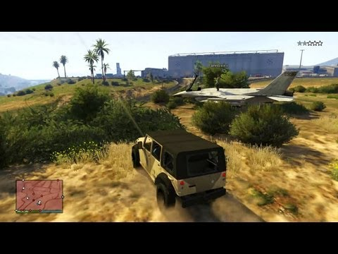 GTA V Multiplayer Gameplay - Jets and Tanks (Military Base Grand Theft Auto V 5 Online)