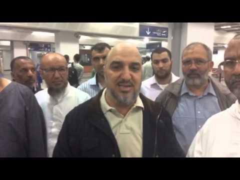 أبو زيد قبل مغادرته لقافلة السلام