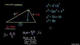 Pravokotni trikotnik – uporaba izrekov 2