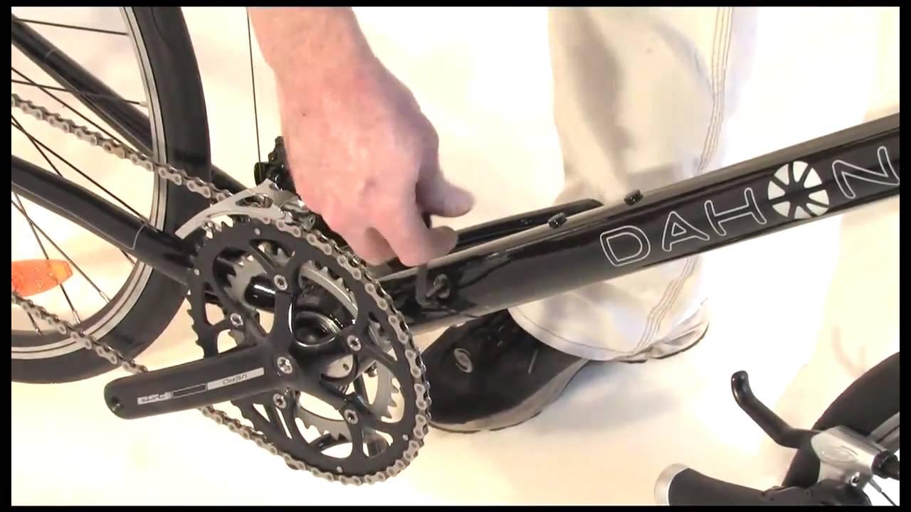 How to Adjust Your DAHON LockJaw Folding Bike Hinge - YouTube