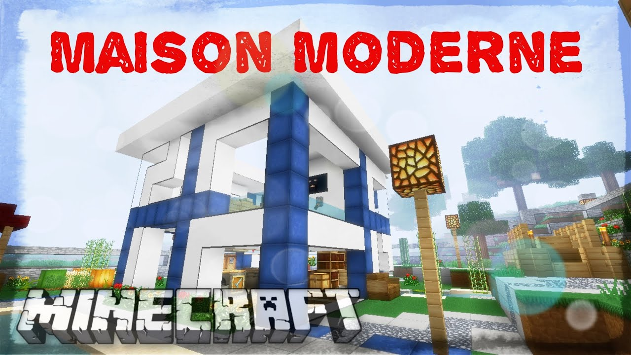 Maison moderne de luxe minecraft youtube for Minecraft construction maison moderne