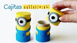 Cajitas Minions con tubos de cartón