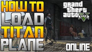 GTA 5: How To OPEN And LOAD The Titan Cargo Plane (People