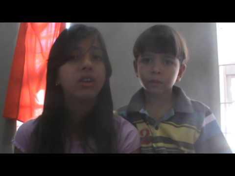Izabella e Gustavo cantando Amigo de todas as horas - Bruna karla