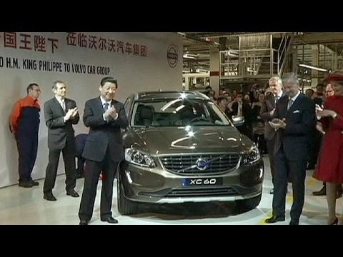 President Xi Jinping visits Chinese-owned Volvo car plant in Belgium - economy