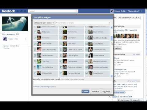 Como enviar mensagem para todos amigos no facebook