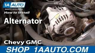 How To Install Repalce Alternator Chevy GMC S-10 S-15