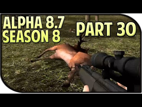7 Days to Die Alpha 8.7 Gameplay / Let's Play Season 8 Part 30 - Hunting!
