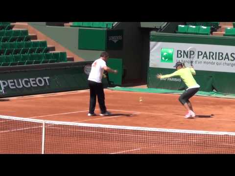 Maria Sharapova - practice session at Roland Garros 2014