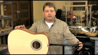 Watch the Trade Secrets Video, Freehand Holder for guitar finishing