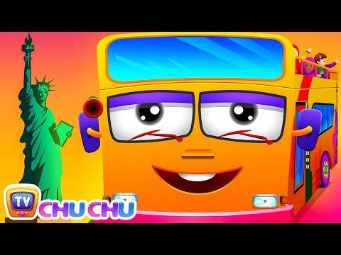 Wheels On The Bus   New York City   Popular Nursery Rhyme by ChuChu TV