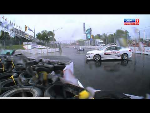 Pace Car Spins @ 2014 Indy Car Toronto Race 1