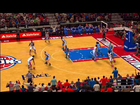 NBA 2K14: Denver Nuggets vs. Detroit Pistons HD Gameplay ft. Josh Smith and Brandon Jennings
