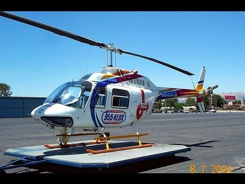 Helicopter Flight In Bell 206B JetRanger N955FM KABCKLOS Van Nuys Airport Lo
