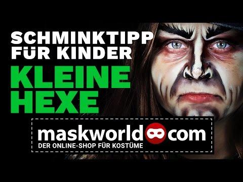 Halloween Make-up Tutorial Kinderschminken Hexe - Schminktipp von maskworld.com
