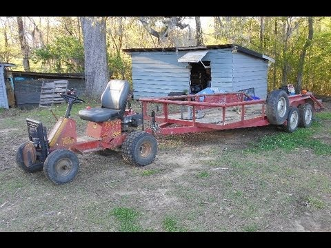 Off Road Yazoo Lawn Mower Pulling my BIG Trailer