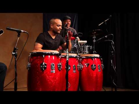 Eric Velez on Toca Percussion Custom Deluxe Drums