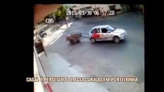 Imagens mostam persegui��o e assassinato de homem em avenida movimentada de Porteirinha