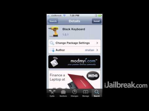 Black Keyboard Cydia Tweak: Transparent Black Background Keyboard On iPhone, iPod Touch, iPad