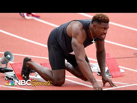 Seattle Seahawks wide receiver DK Metcalf competes in 100m race at USATF Golden Games | NBC Sports